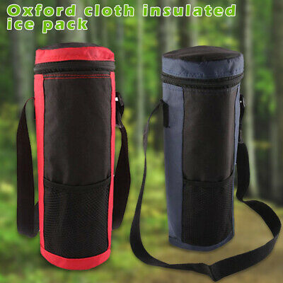 AU17.15 • Buy Travel Water Bottle Cooler Tote Bag Insulated Holder Carrier Pouch Ice Pack