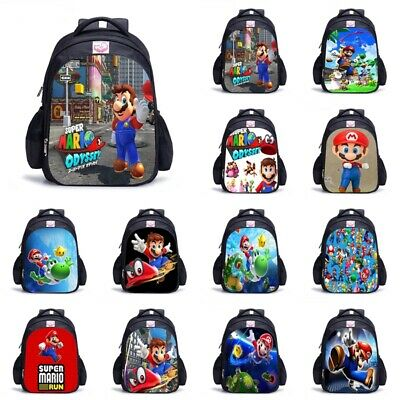 Super Mario Game Backpack Kids Boys Girls Student School Bag Rucksack Three Size • 13.19£