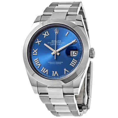 $ CDN11088.06 • Buy Rolex Datejust 41 Automatic Blue Dial Stainless Steel Men's Watch 126300 0017