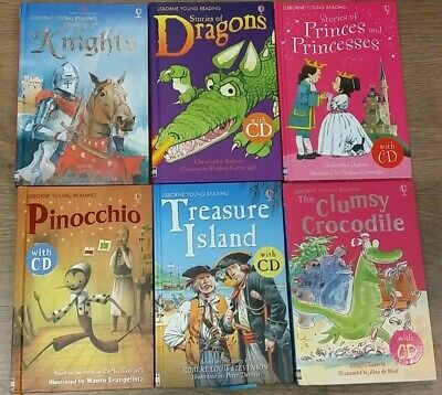 £15.99 • Buy 6 USBORNE YOUNG READERS BOOKS WITH CD By VARIOUS AUTHORS  ** £3.25 UK POST **HB