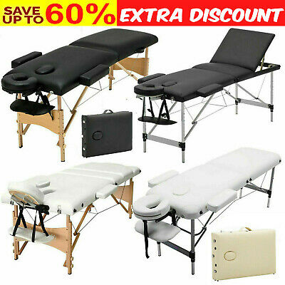 Folding Massage Table Bed Lightweight Beauty Salon Tattoo Facial Couch Portable • 63.90£