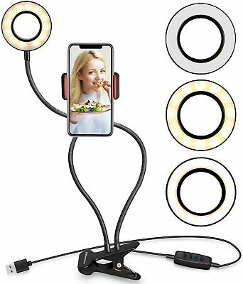 AU19.99 • Buy 4'6000K Dimmable Diva LED Ring Light Diffuser Stand Mirror Make Up Studio Video