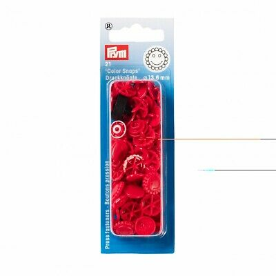 Prym Flower Plastic Press Fasteners - Red • 3.09£