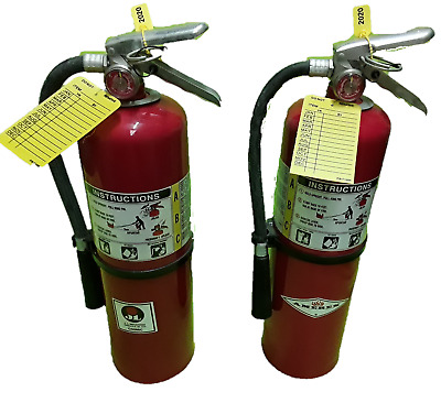 $75 • Buy Fire Extinguisher - 10 Lb ABC Dry Chemical Lot Of 2 [SCRATCH&DENT]