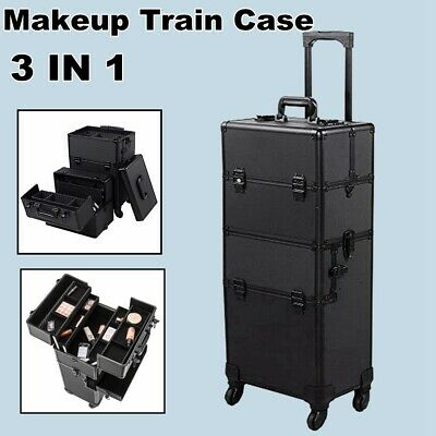 $87.64 • Buy Professional Rolling Makeup Vanity Travel Artist Case Cosmetics Box Trolley