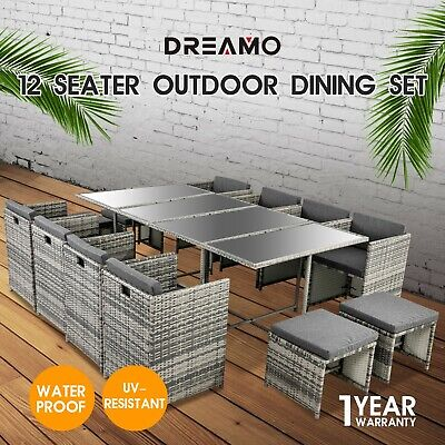 AU999.95 • Buy 9/11/13PC Outdoor Dining Furniture Set Wicker Garden Table&Chairs