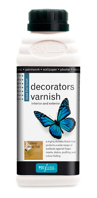 £7.84 • Buy POLYVINE Quick-Dry Clear Acrylic Decorators Varnish - Dead Flat, Satin Or Gloss