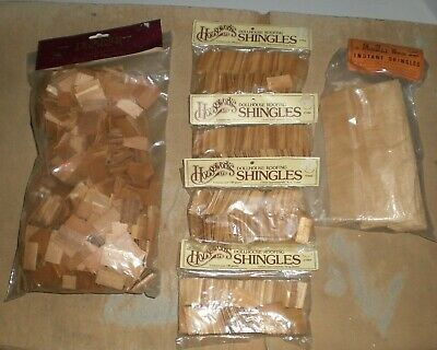 Houseworks Dollhouse Roofing Shingles Handley House Instant Architectural Wood • 33$