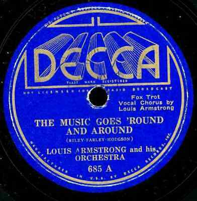 Louis Armstrong. The Music Goes Round And Round/rhythm Saved The World. 78 • 20$