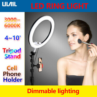 AU31.99 • Buy 4-10' 6000K Dimmable LED Ring Light Diffuser Stand Mirror Make Up Studio Video