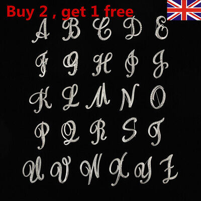 £3.15 • Buy 26 English Letters Crystal Letter Brooch Initial Lapel Pin Rhinestone Clip UK