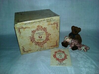 $11.95 • Buy Boyd's Yesterday's Child Dollstone Collection Shelby Asleep In Teddy's Arms EUC