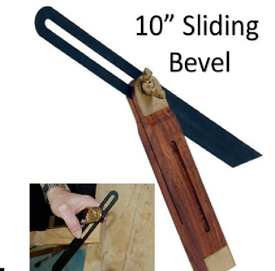 Sliding Bevel 10  Long Woodworkers  Gauge Hardwood Angle Finding T Bevel 0103 • 7.52£