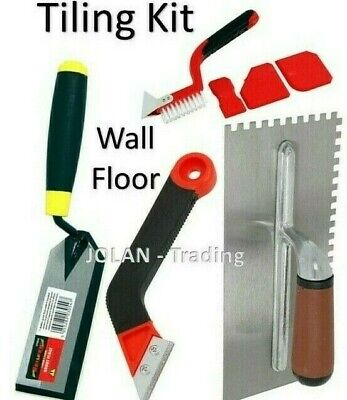 Tiling Tool Kit Grout Float Notched Tile Trowel Grouting Wall Floor  • 14.99£