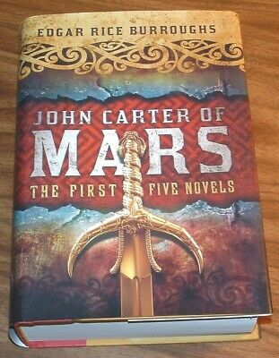 EDGAR RICE BURROUGHS John Carter Of Mars:5/1 HB A PRINCESS+Gods+WARLORD+Chessmen • 13.99$