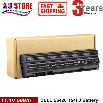 AU36.99 • Buy 60Wh T54FJ E6420 Battery For Dell Latitude M5Y0X E5420 E6430 E6520 8858X NHXVW