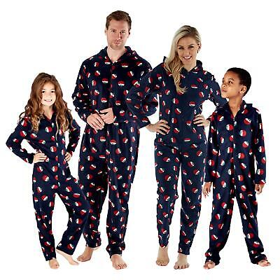 Family Mens Womens Kids Matching Christmas Pudding Xmas All In One 1Onesie PJs • 14.99£