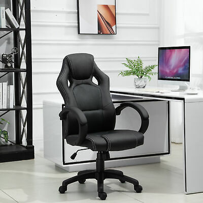 £68.99 • Buy HOMCOM Office Racing Chair Gaming Swivel PU Leather Computer Seat Home Office