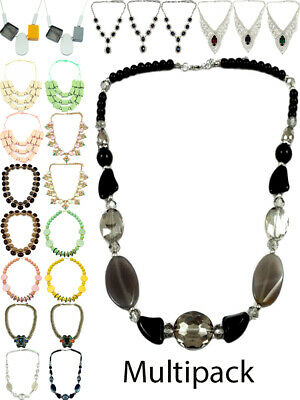 £3.50 • Buy Womens Chunky Necklace Fashion Jewellery Multi Pack Lobster Trigger Fastening