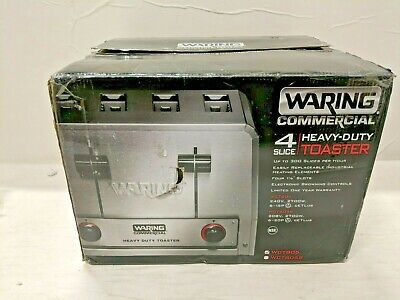 New Open Box Waring  Heavy Duty Commercial 4 Slice Toaster WCT805 240V • 213.83$