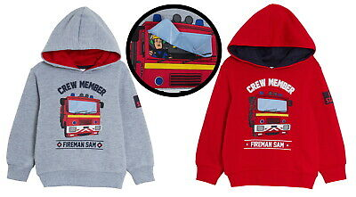 Boys Fireman Sam Hooded Jacket Kids Fleece Hoodie Lift Up Badge Jumper Hoodie  • 14.95£