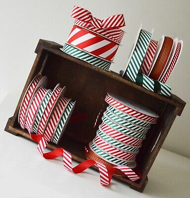 £1.45 • Buy Christmas Ribbon Bertie's Bows Candy Stripe Red White Green Craft Gift Wrapping