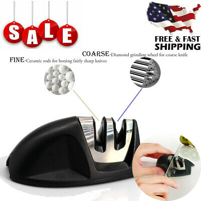 $5.38 • Buy Mini Knife Sharpener Kitchen Knives Blade Sharpening Tool 2 Stage Handheld NEW