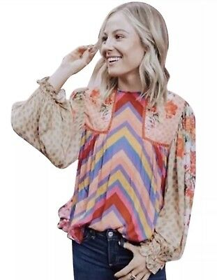 $ CDN151.37 • Buy NWT Anthropologie Blank Eclectic Peasant Blouse Size XL NWD