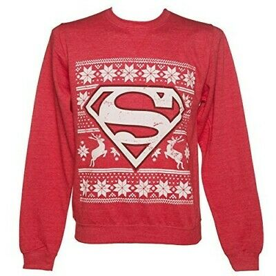Superman Christmas Jumper Unisex NEW Size Small • 15£