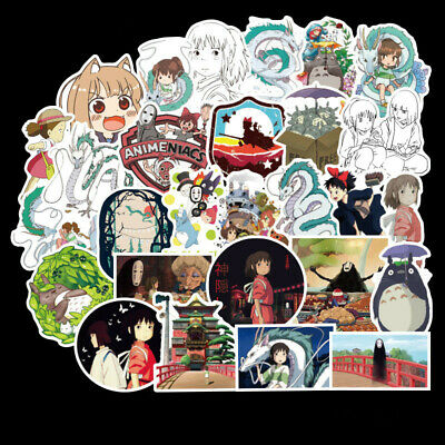 $ CDN4.99 • Buy 50PCS/SET Anime Spirited Away PVC Stickers For Luggage Laptop Skateboard DIY