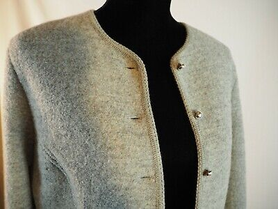 $45 • Buy Geiger Boiled Wool Grey 46 Small Medium  Grey Gray Gieger Vintage Blazer Jacket