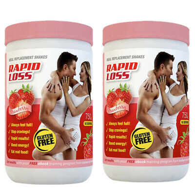 View Details Rapid Loss Strawberry Meal Replacement Shakes Twin Pack Strawberry • 29.95AU