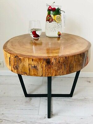 Coffe Table ,solid Oak,metal Legs, Epoxy Resin,free Delivery!!! • 600£