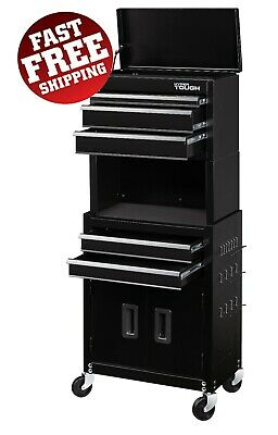 View Details Rolling Tool Box Chest Storage Cabinet On Wheels 20 Mechanic Garage Steel Tough • 100.30$