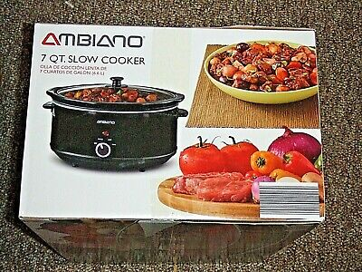 $ CDN43.85 • Buy AMBIANO 3178666 7 Qt. SLOW COOKER NEW IN PACKAGE OVAL CROCK POT