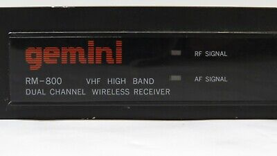 £28.73 • Buy Gemini RM-800 Dual Channel Wireless Microphone Receiver *NO ANTENNAS*