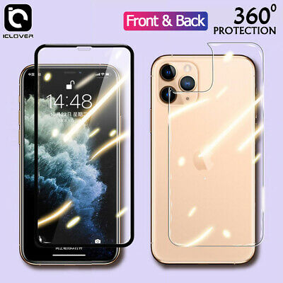 AU12.86 • Buy For IPhone 11 X XR Max XS Full Cover Front Tempered Glass+Back Screen Protector