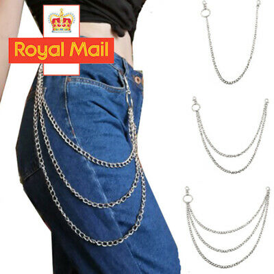 UK Mens Womens Bicycle Trouser Pant Chain Wallet Chains Biker Punk Hiphop Jean • 2.99£