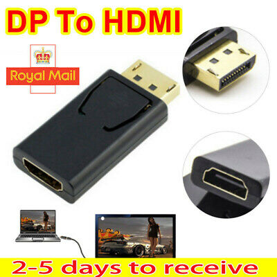 Display Port DP Male To HDMI Female Adaptor Adapter Converter For 1080P HDTV PC • 2.39£