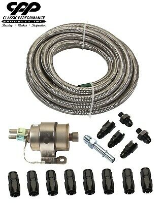$198.55 • Buy Braided Stainless LS Conversion EFI Fuel Injection Hose Line Kit 58psi Regulator