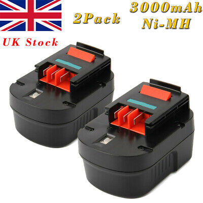 2X 12V 3000mAh Ni-MH Battery For Black Decker A12 A1712 HPB12 Firestorm FS120B  • 35.95£
