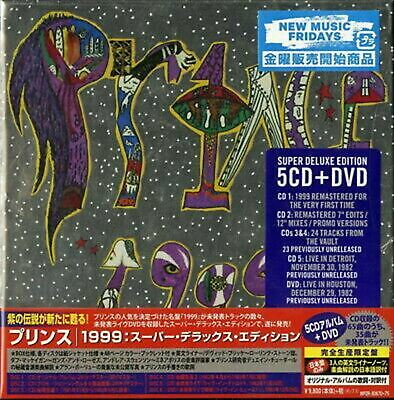 New PRINCE-1999 SUPER DELUXE EDITION-IMPORT 5 CD+DVD+BOOK WITH OBI Ltd/Ed Y73 • 549.92£
