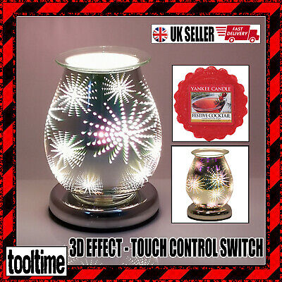 Electric Wax Melt Burner With Touch Control 3d Firework + Yankee Candle Melt • 21.99£