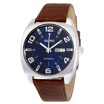 $ CDN127.88 • Buy Seiko Recraft Automatic Blue Dial Brown Leather Men's Watch SNKN37