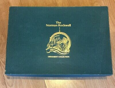 $ CDN261.81 • Buy Vintage Norman Rockwell Merry Christmas Ornament Set 25 Box Excellent Condition
