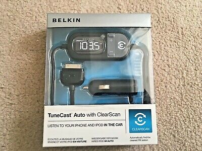 BELKIN Tunecast Auto With ClearScan- Listen To IPhone & IPod In The Car - Black • 19.69£