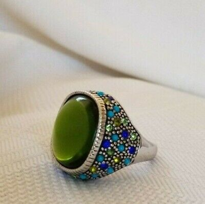 $ CDN35 • Buy Lia Sophia Confetti Ring Size 8 Turquoise, Blue, Green