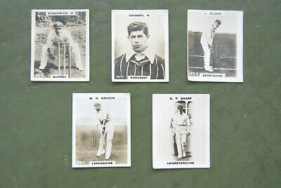 Cigarette Cards. 1924 'PINNACE' KF CRICKETERS CARDS. X5. • 7.50£