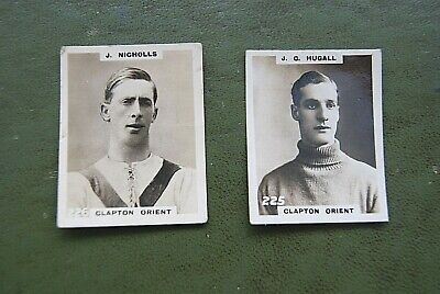 Cigarette Cards. 1922/3 PHILLIPS 'PINNACE' CLAPTON ORIENT PLAYERS. SCARCE. KF. • 2.50£