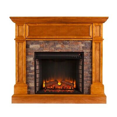 Heater Electric Fireplace Infrared Space Firebox Blower Adjustable Thermostat Re • 752.58$